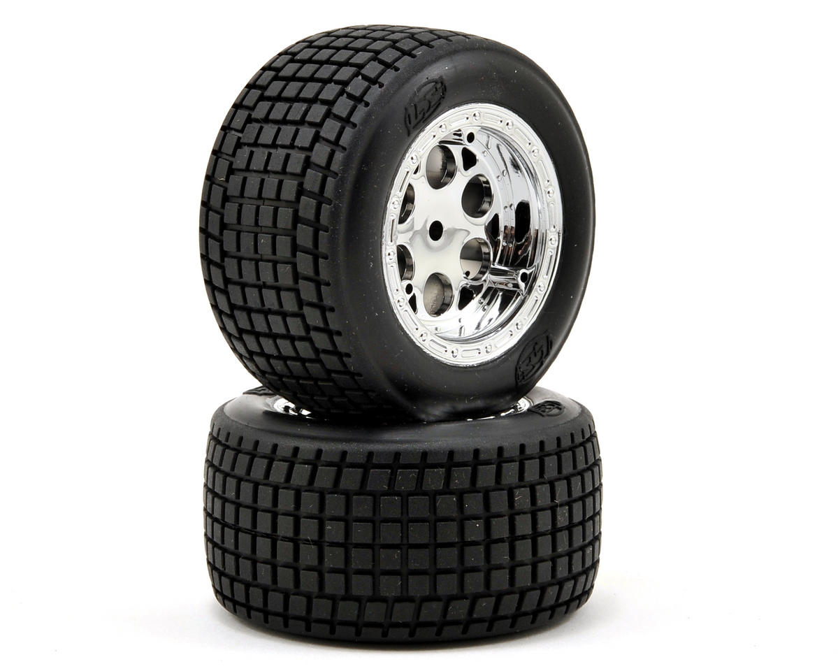 Losi Small Diameter Rear Wheel & Tire Set (2)