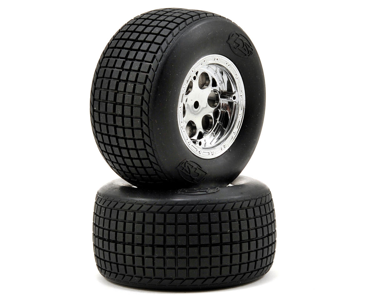 Losi Large Diameter Rear Wheel & Tire Set (2)