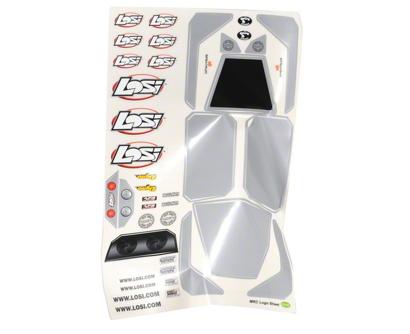 Losi Mini Rock Crawler Body w/Stickers & Mask (Clear)