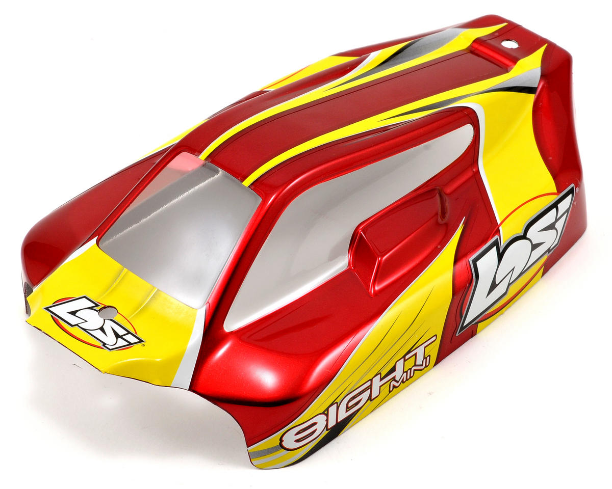 Losi Mini 8IGHT Painted Body Set (Red)