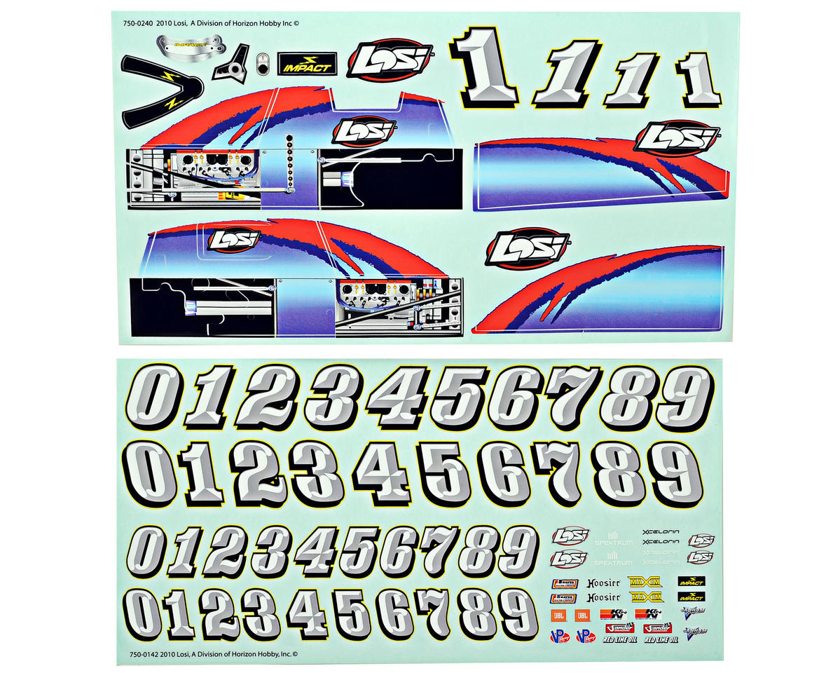 Losi Mini Sprint RTR Sticker Sheet
