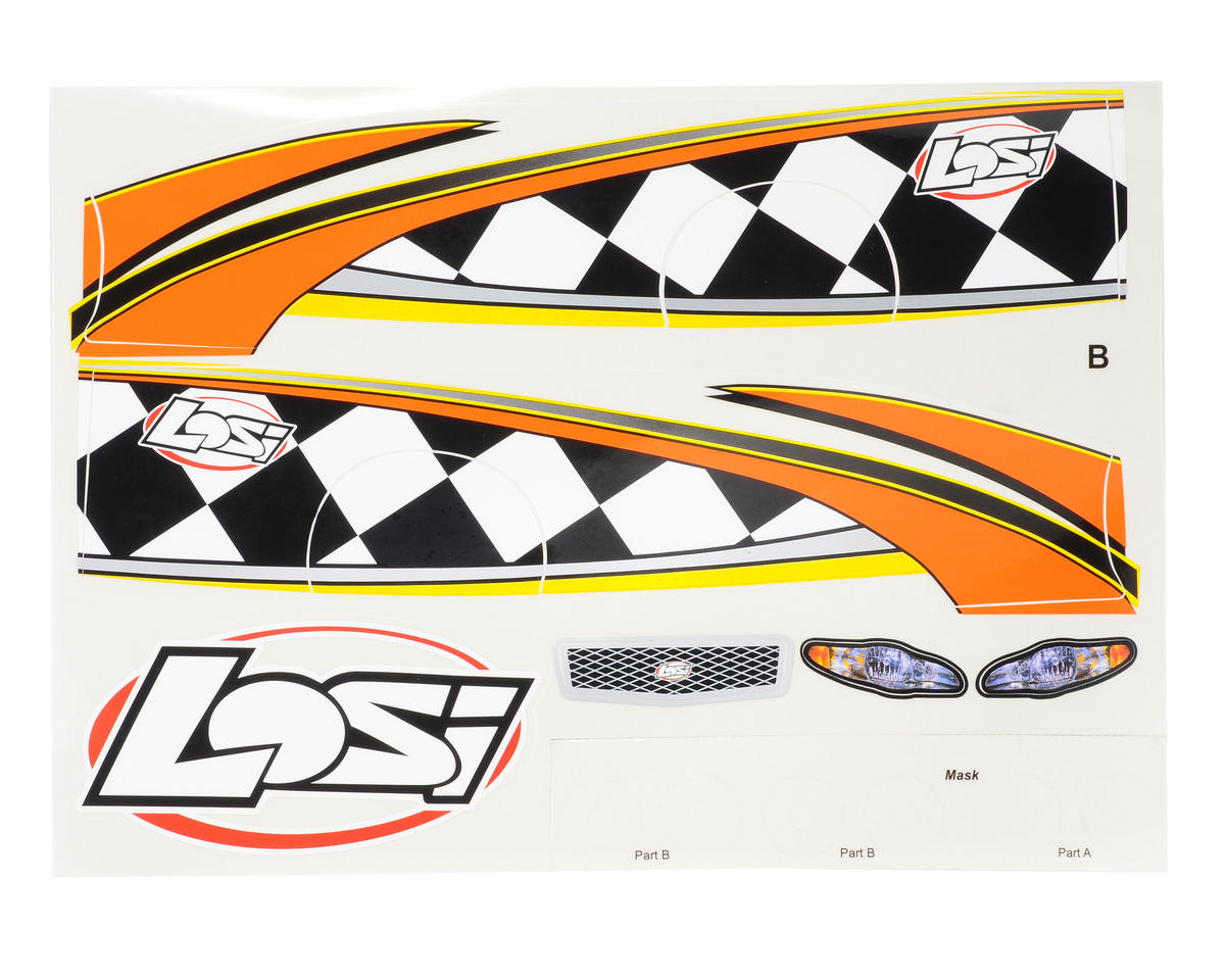 Losi Mini-Late Model Graphics Sheet