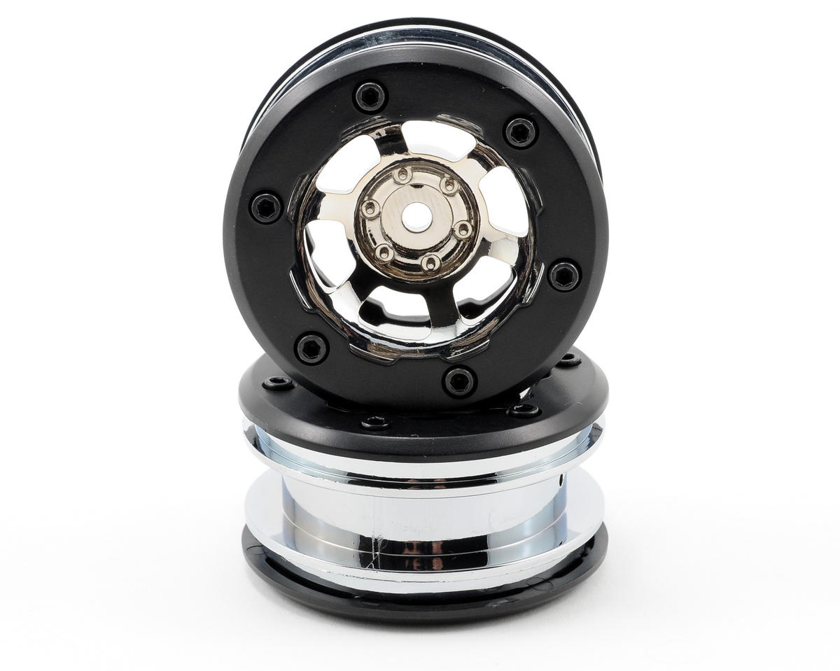 Losi Mini Rock Crawler Wheels (Chrome)