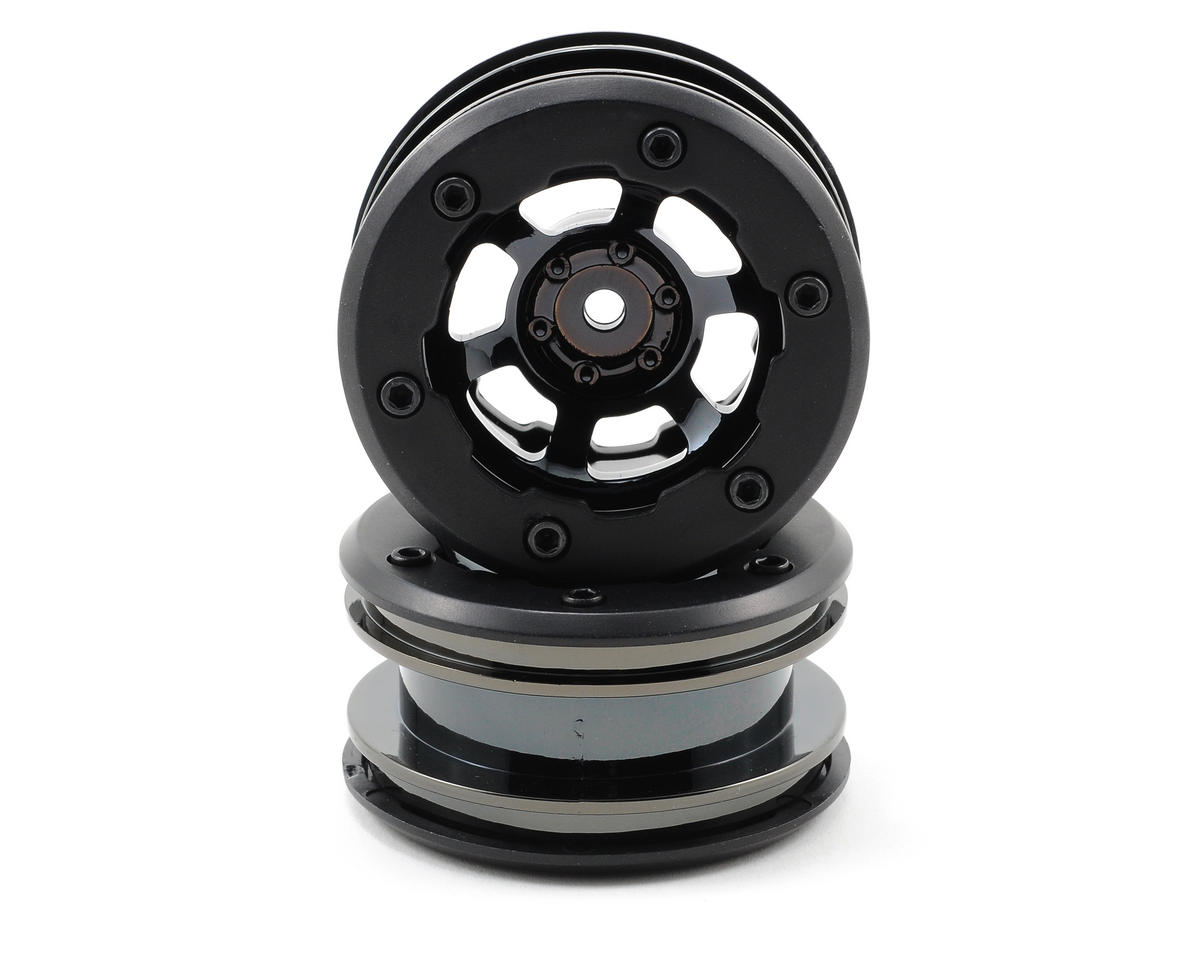 Losi Mini Rock Crawler Wheels (Black Chrome)