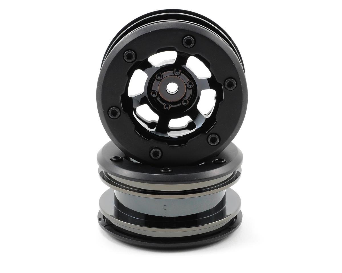 Losi Mini Rock Crawler Wheels (Black Chrome)