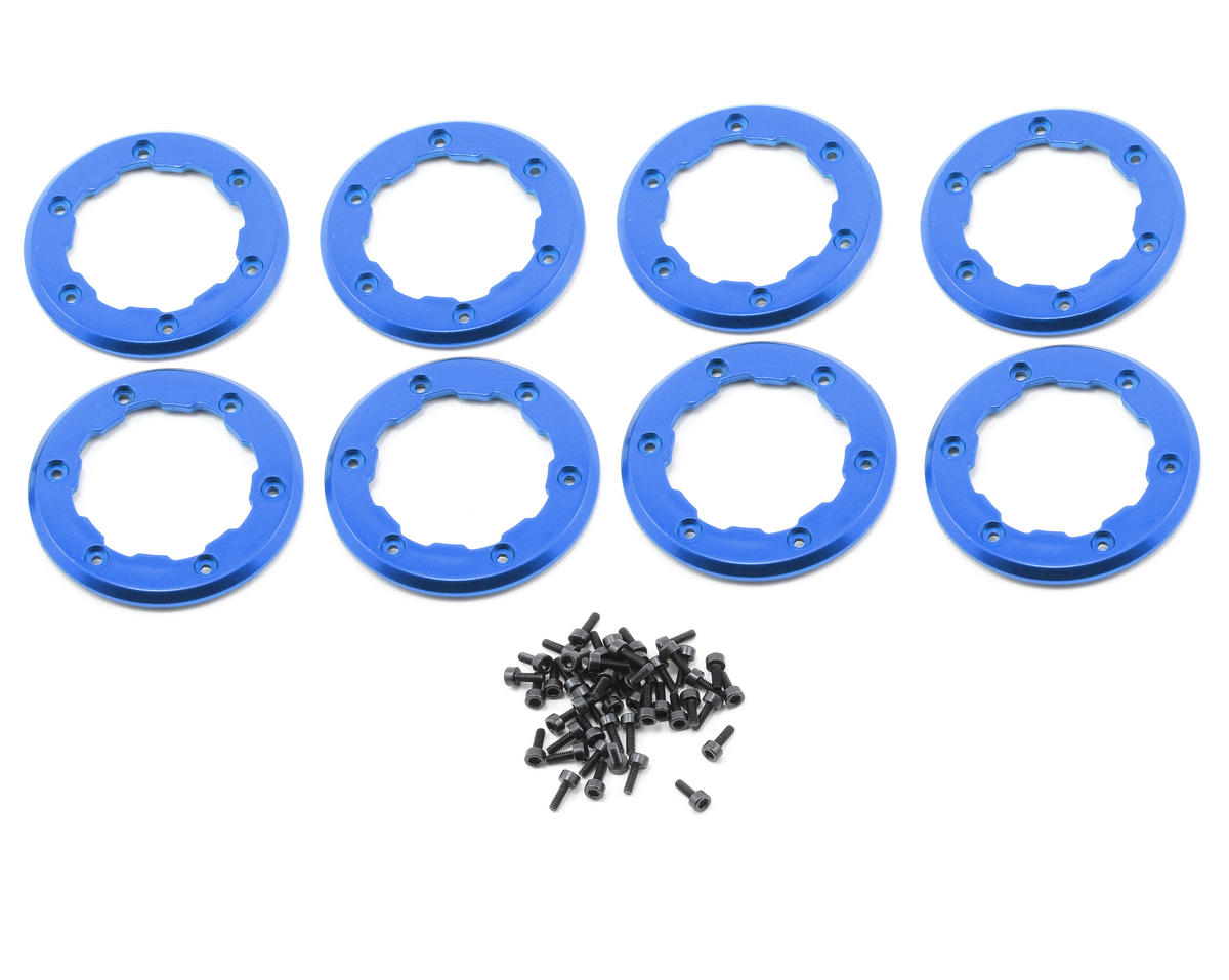 Losi Mini Rock Crawler Wheel Rings (Blue) (8)