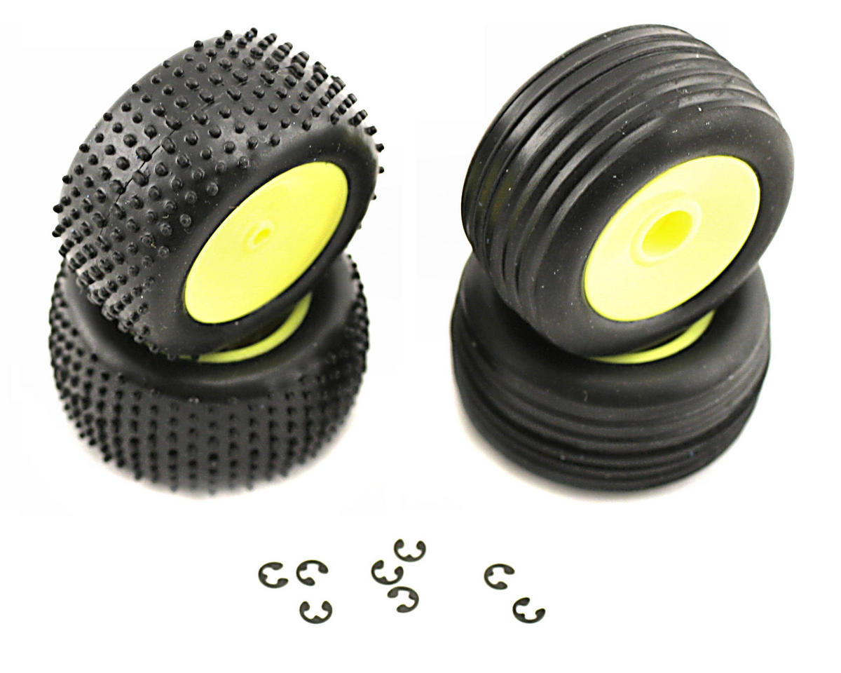 Losi Front/Rear Wheels & Tires (Micro-T)