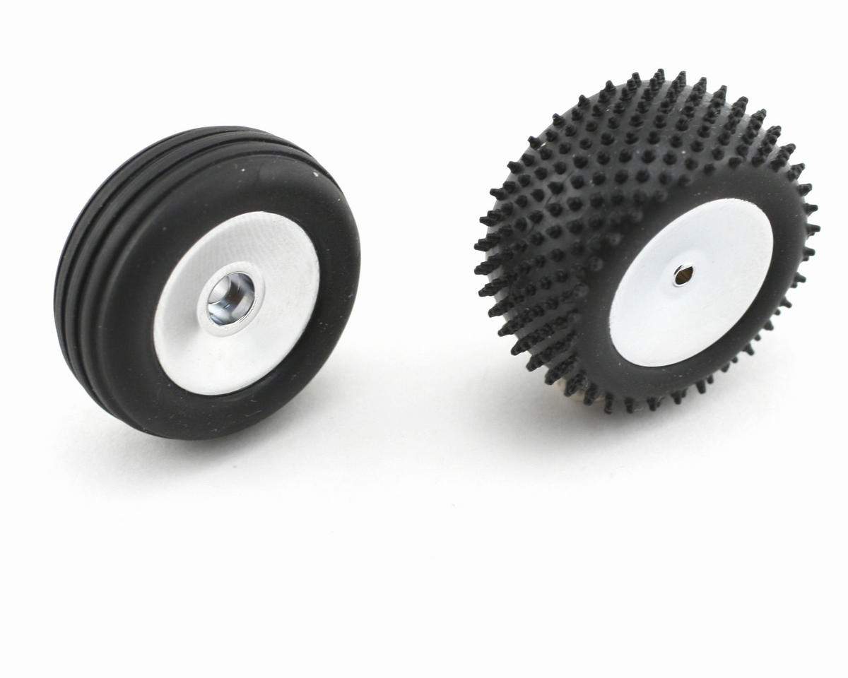 Losi Pre-Mounted Front/Rear Wheels & Tires (Chrome) (4)