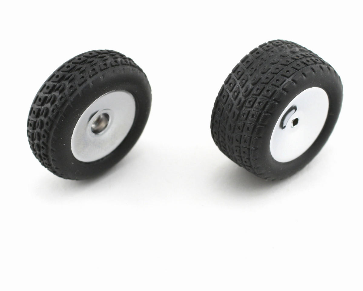 Losi Micro-Baja Pre-Mounted Street Meat Front/Rear Tires (Chrome) (4)