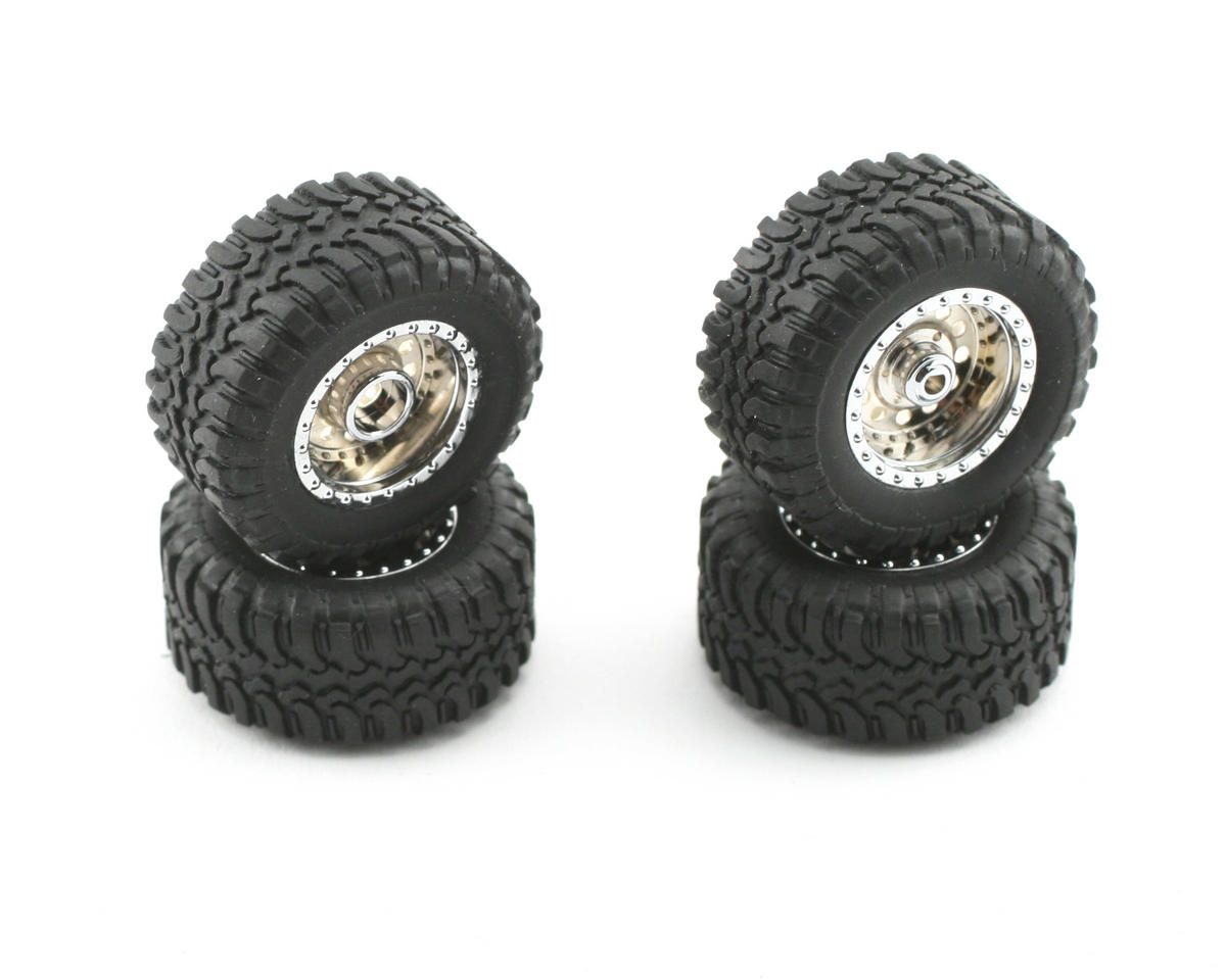 Losi Pre-Mounted Desert Tire Set (Chrome) (4)