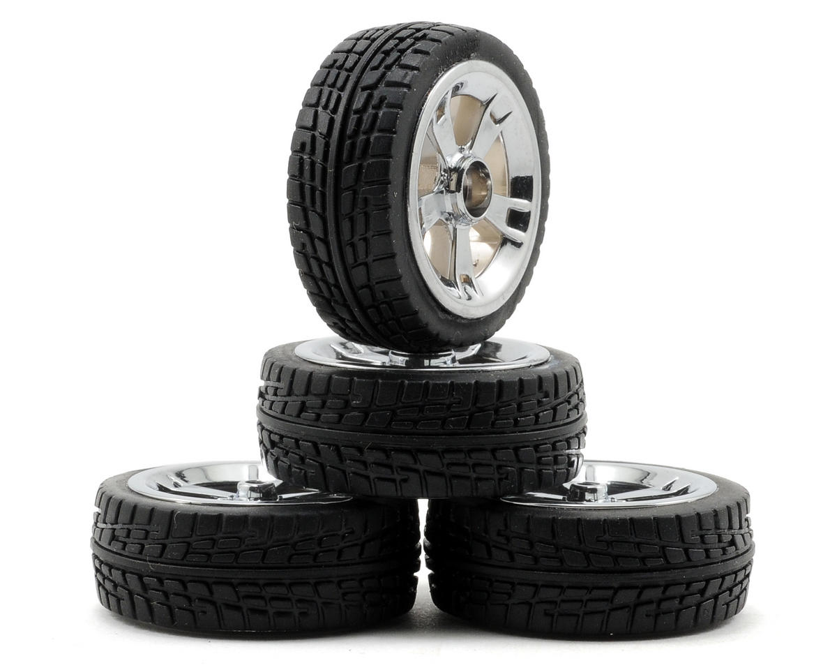 Losi Pre-Mounted Micro 22 On Road Tire Set (4) (Chrome)