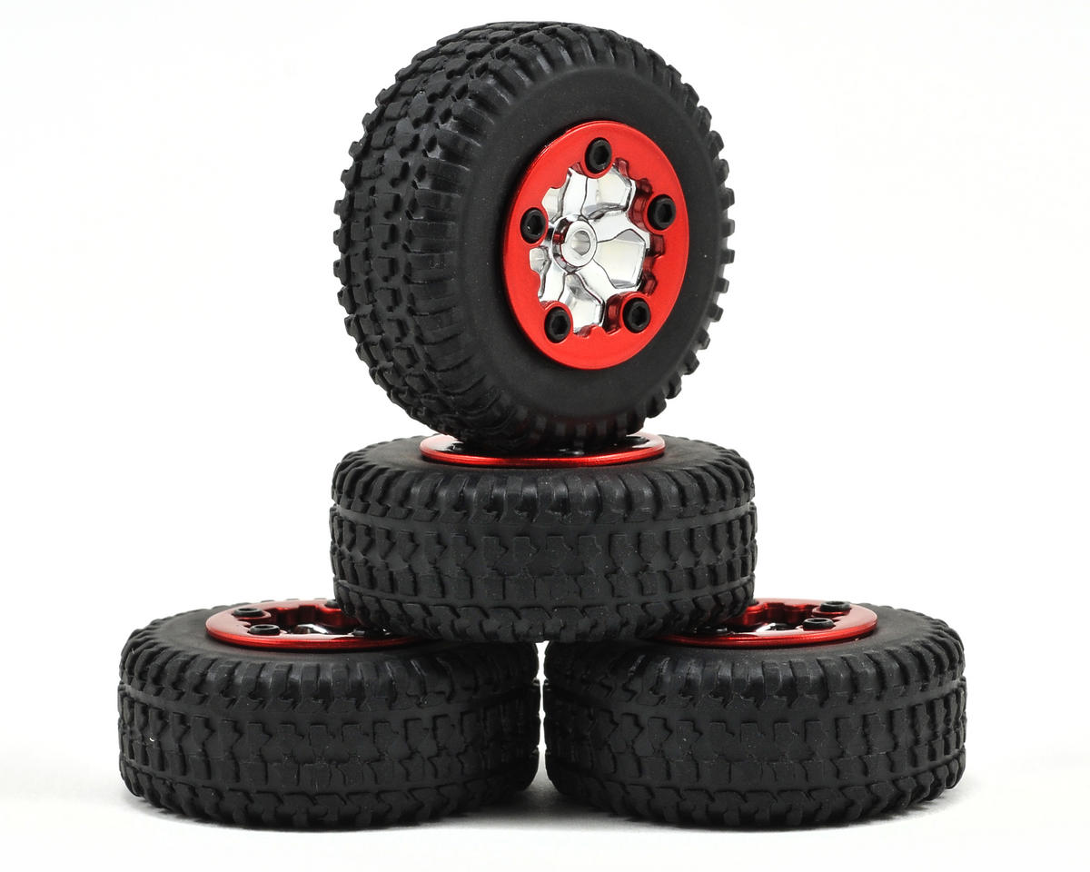 Pre-Mounted Micro SCT Tires (4) (Chrome) by Losi