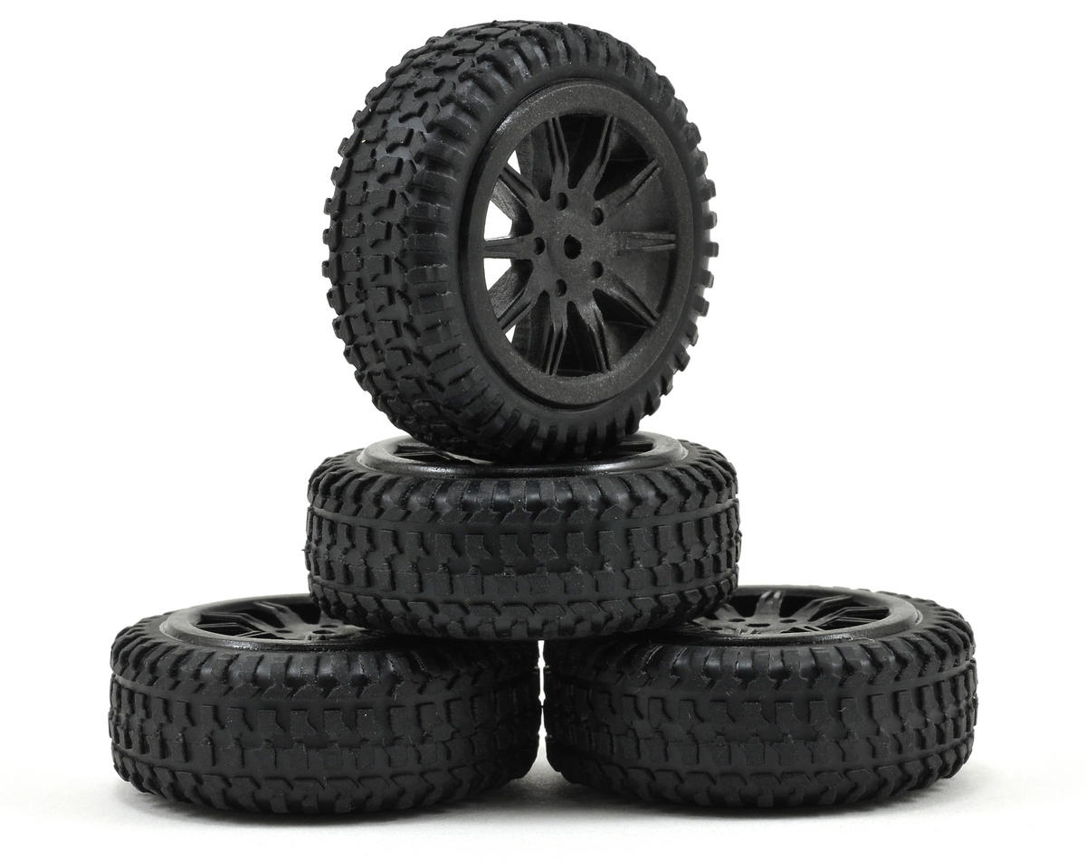 Losi Micro Rally Car Pre-Mounted Tires (4) (Black)