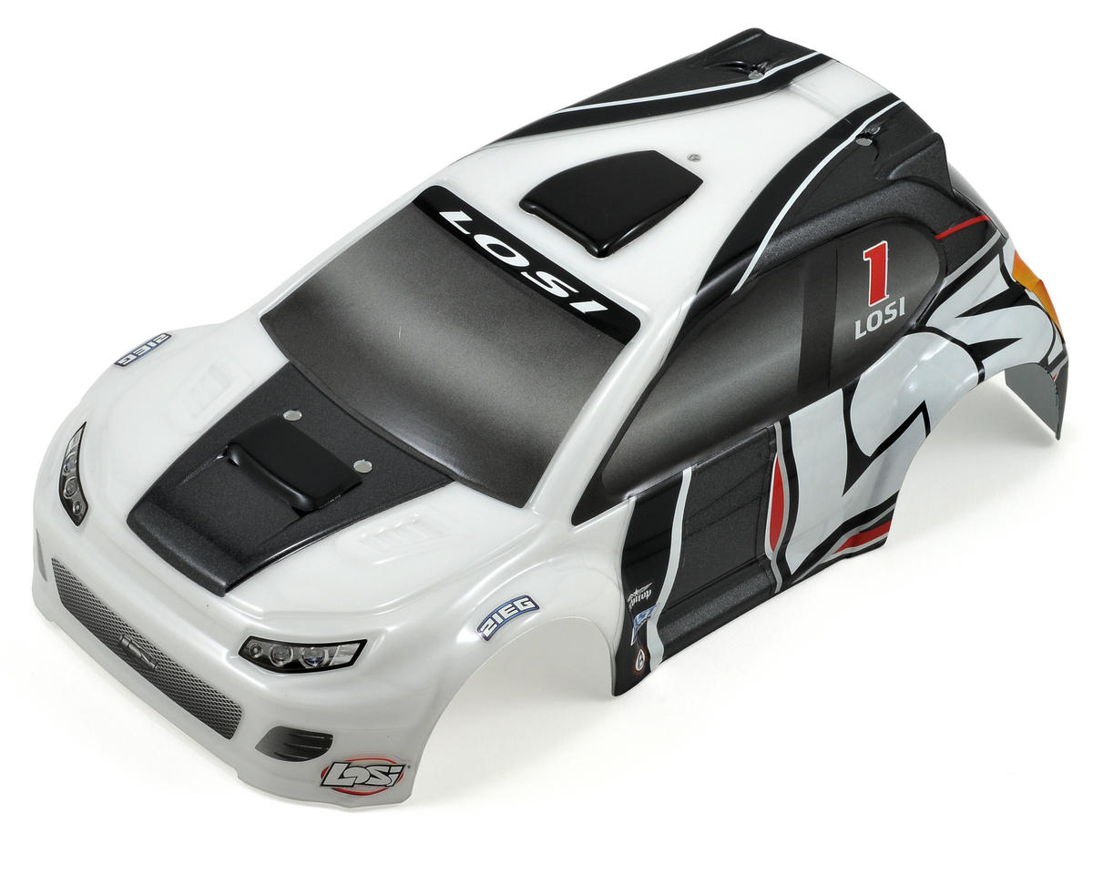 Losi Micro Rally Car Body (Gray/White)