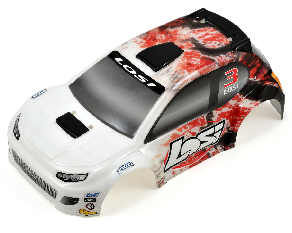 Micro Rally Body (Red Splatter) by Losi