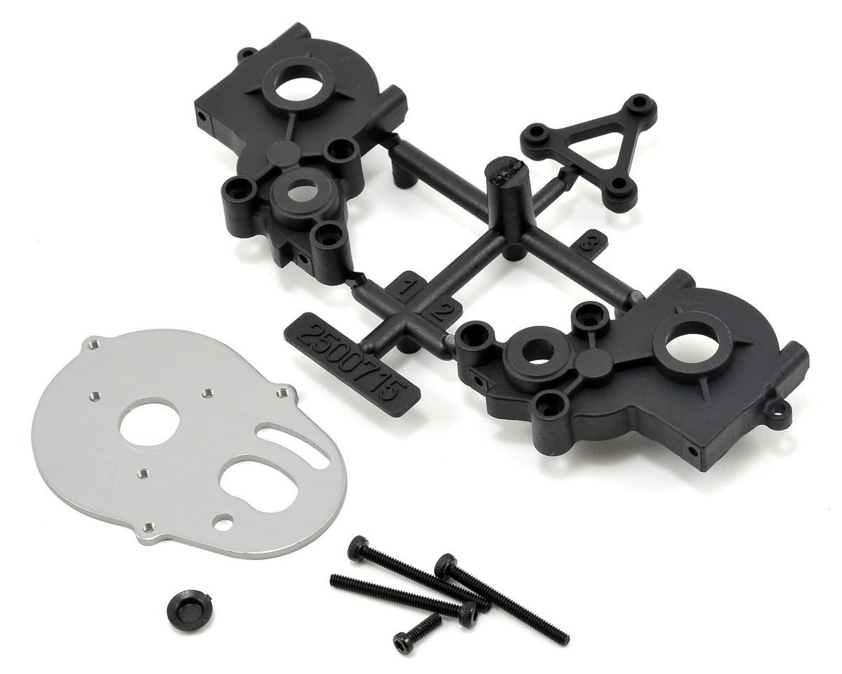 Losi Transmission Case Motor Plate & Brace Set