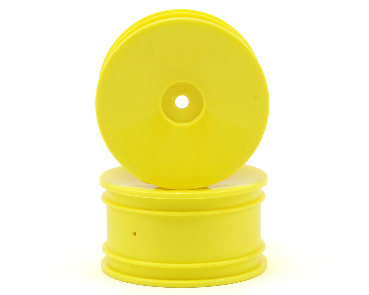 Rear Wheel Set (2) (Mini 8IGHT) (Yellow) by Losi
