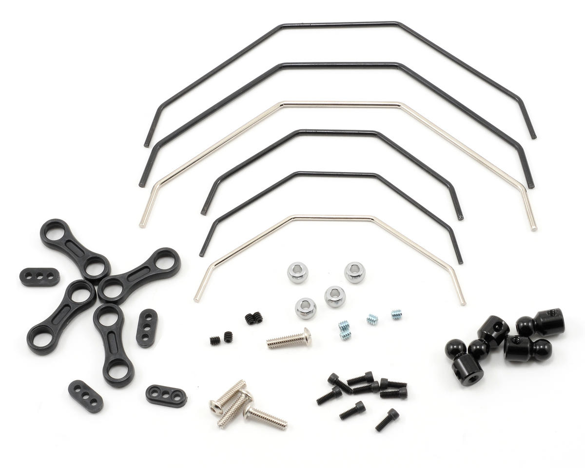 Losi TEN-SCBE Front & Rear Sway Bar Kit (Ten-T)