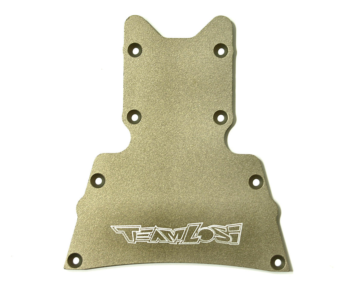Losi Heavy Duty Hard Anodized Front Bottom Plate (LST, LST2).