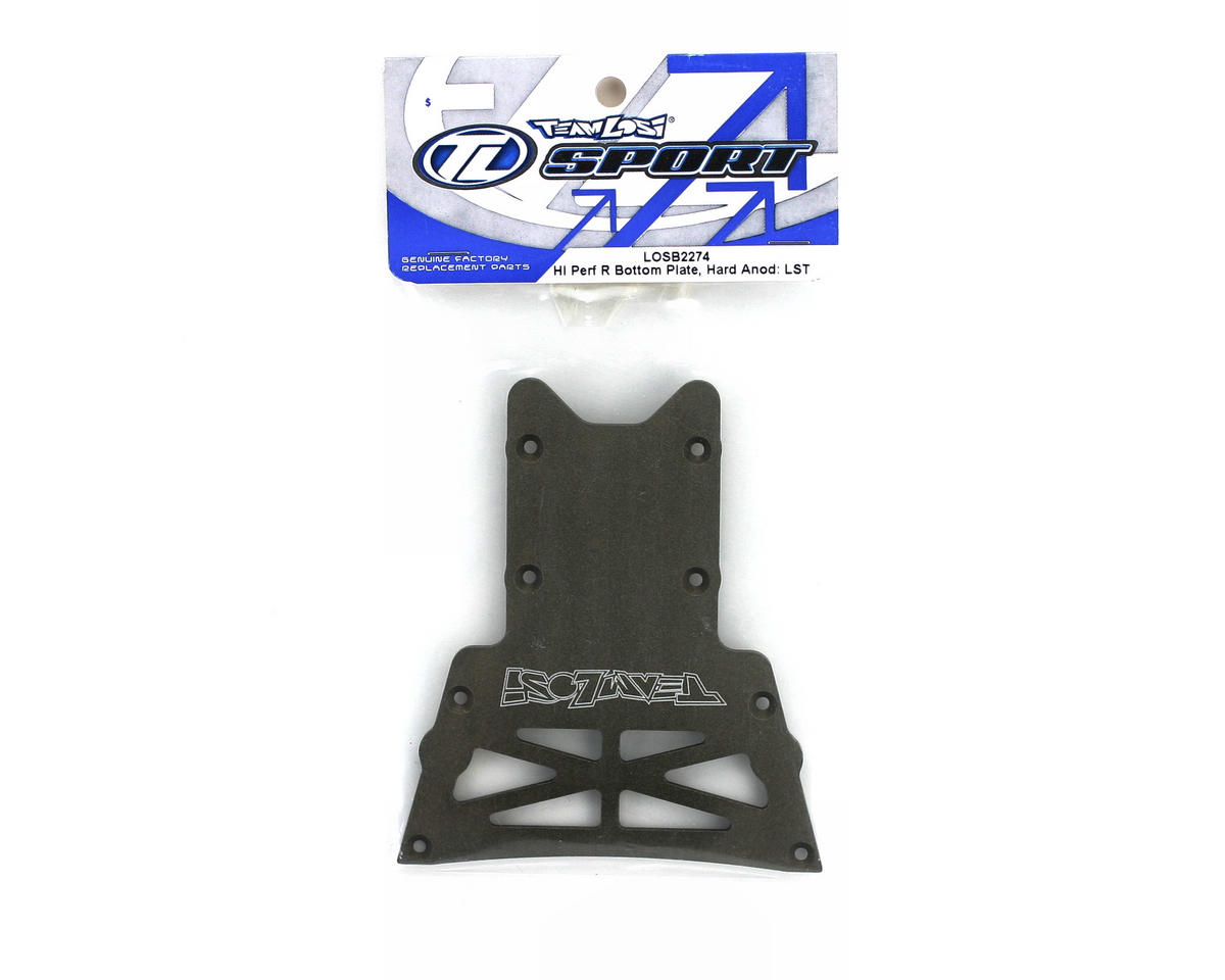 Losi High Performance Rear Bottom Plate Hard Anodized (LST, LST2, AFT)