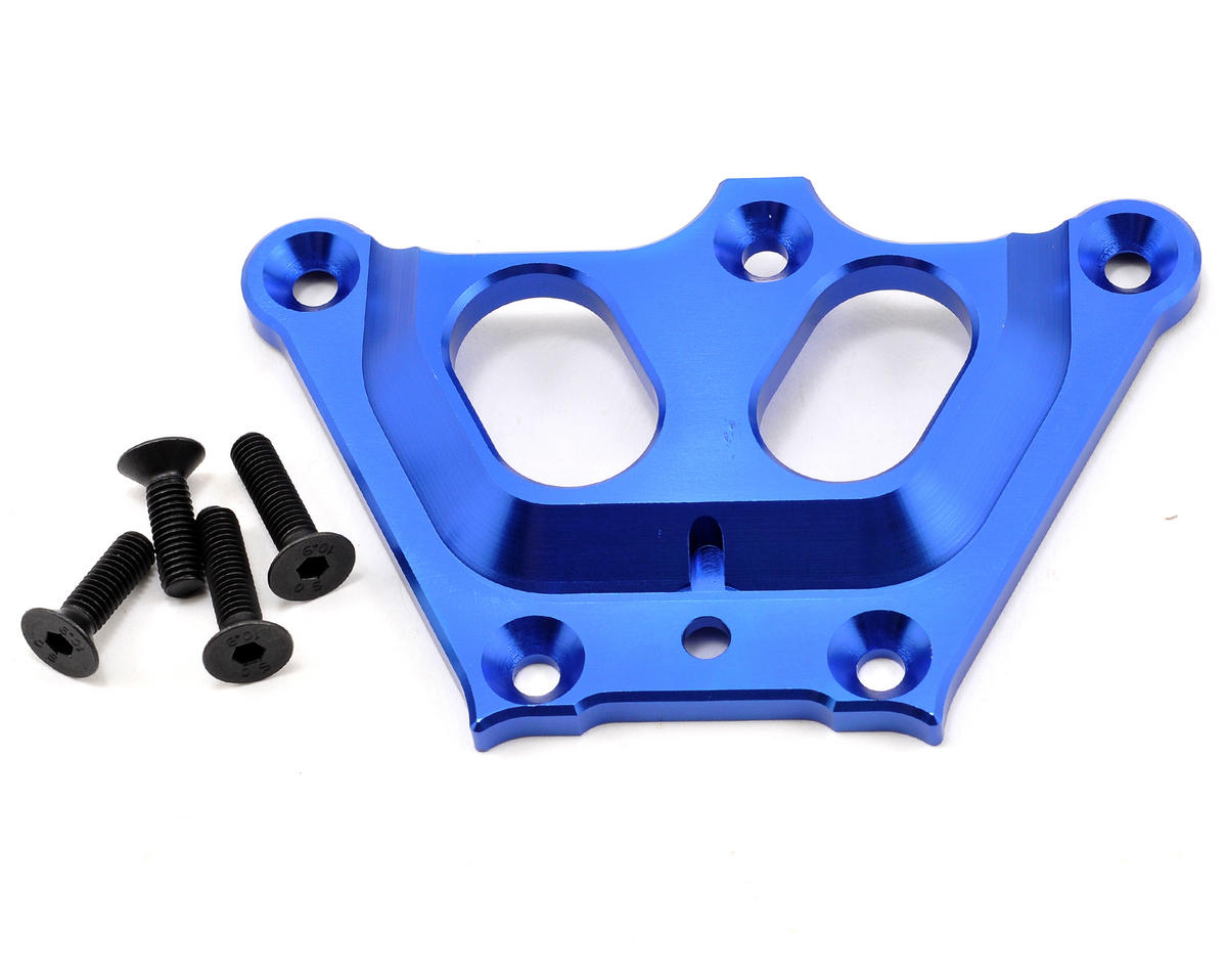 Losi Aluminum Front Top Chassis Brace (Blue)