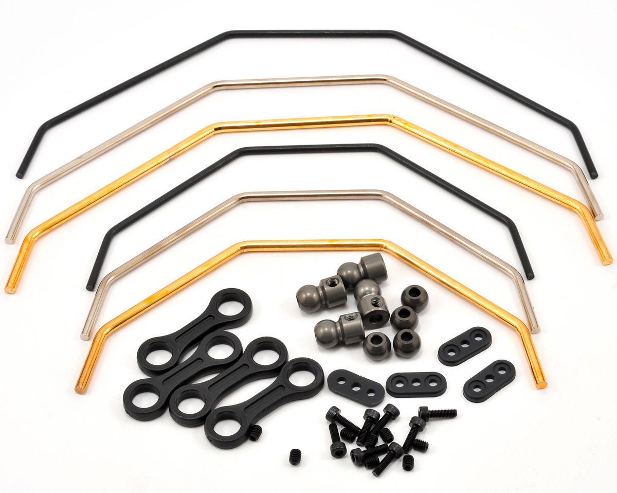 Front & Rear Sway Bar Set w/Hardware (6) by Losi
