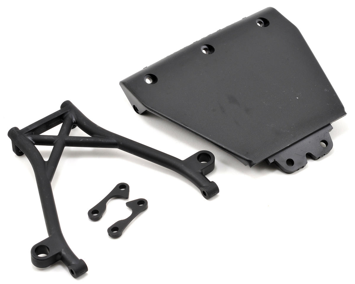 Front Skid Plate & Bumper Brace Set by Losi