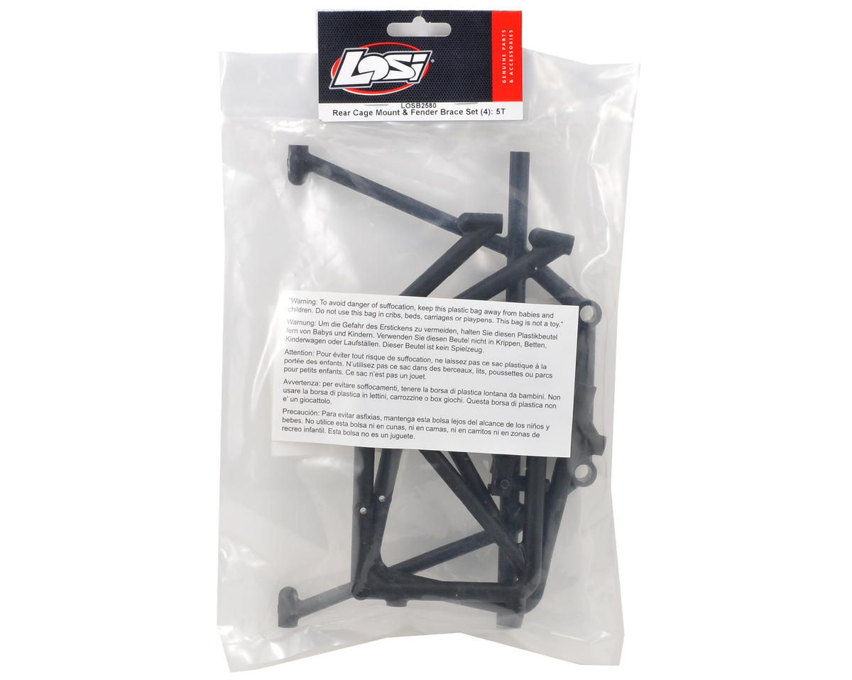 Losi Rear Cage Mount & Fender Brace Set