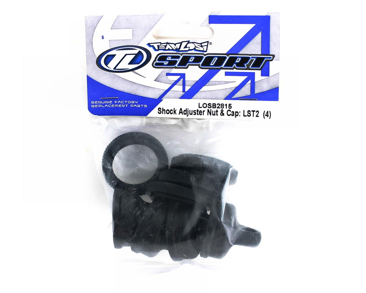 Losi Shock Adjuster Nut & Cap (LST2) (4)