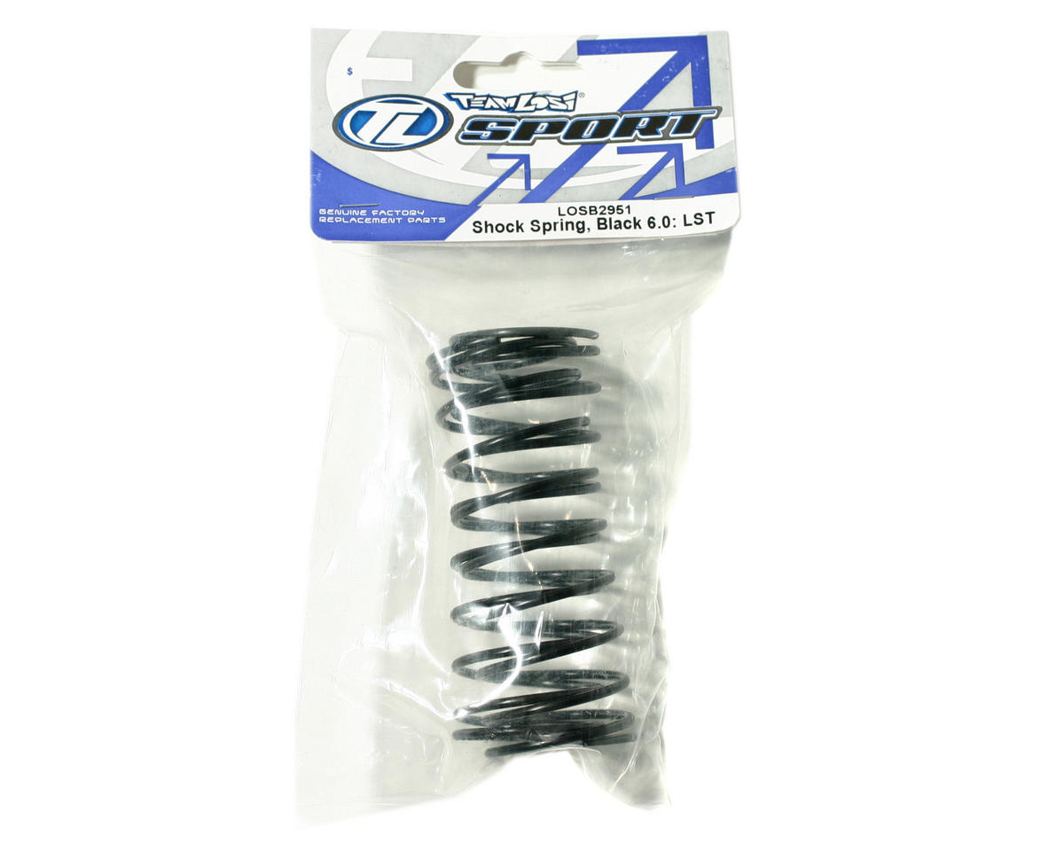 Losi Shock Springs 6.0 (Black) (2) (LST, LST2).