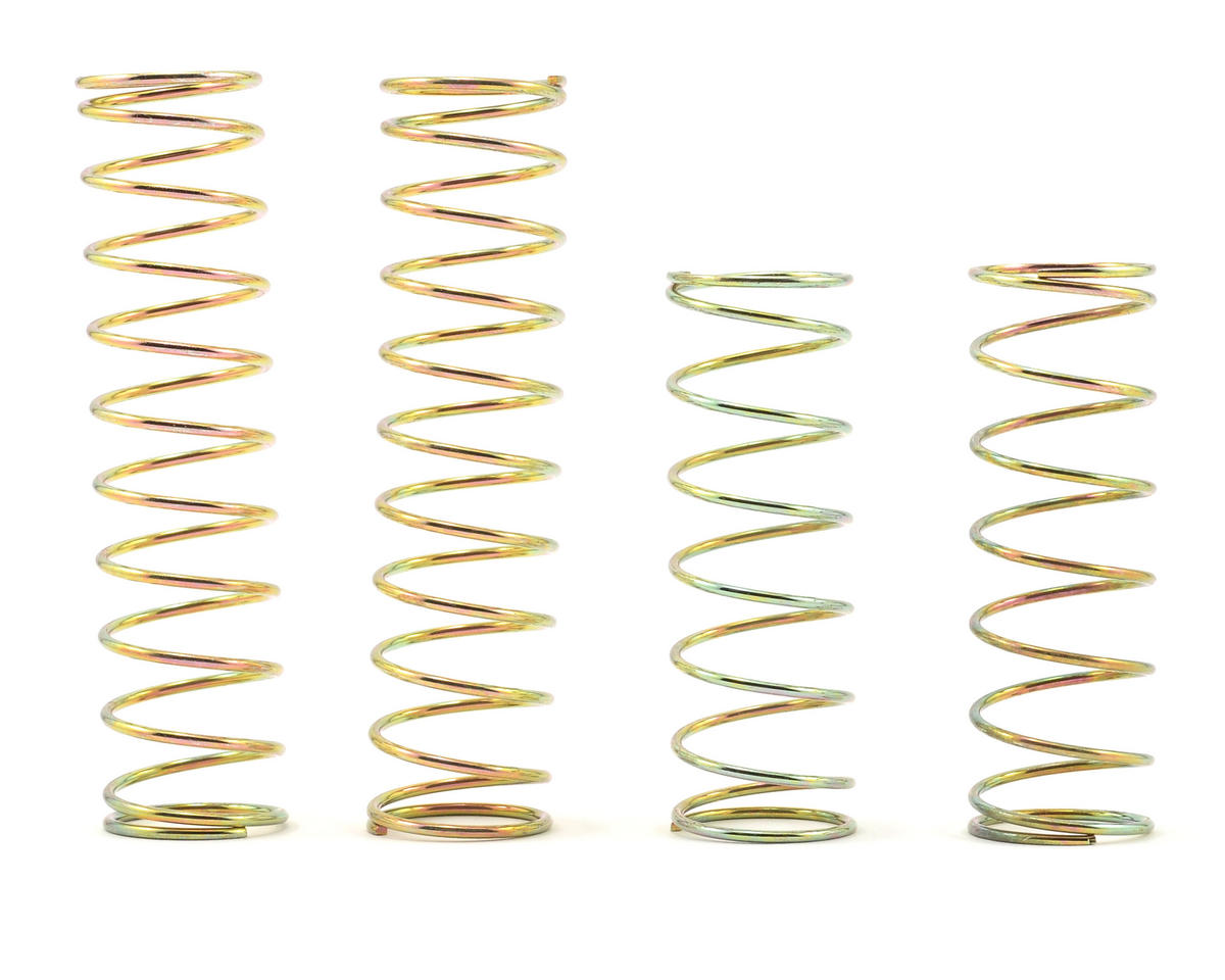 Losi Front and Rear Shock Spring Set (4) (Gold–Firm) (Ten-T)