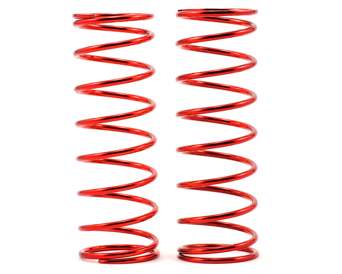 Front Shock Spring Set (Red - 12.9lb) (2) by Losi