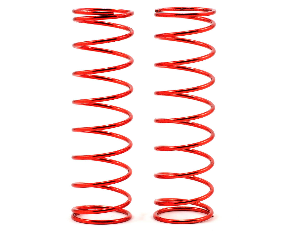Rear Shock Spring Set (Red - 9.3lb) (2) by Losi