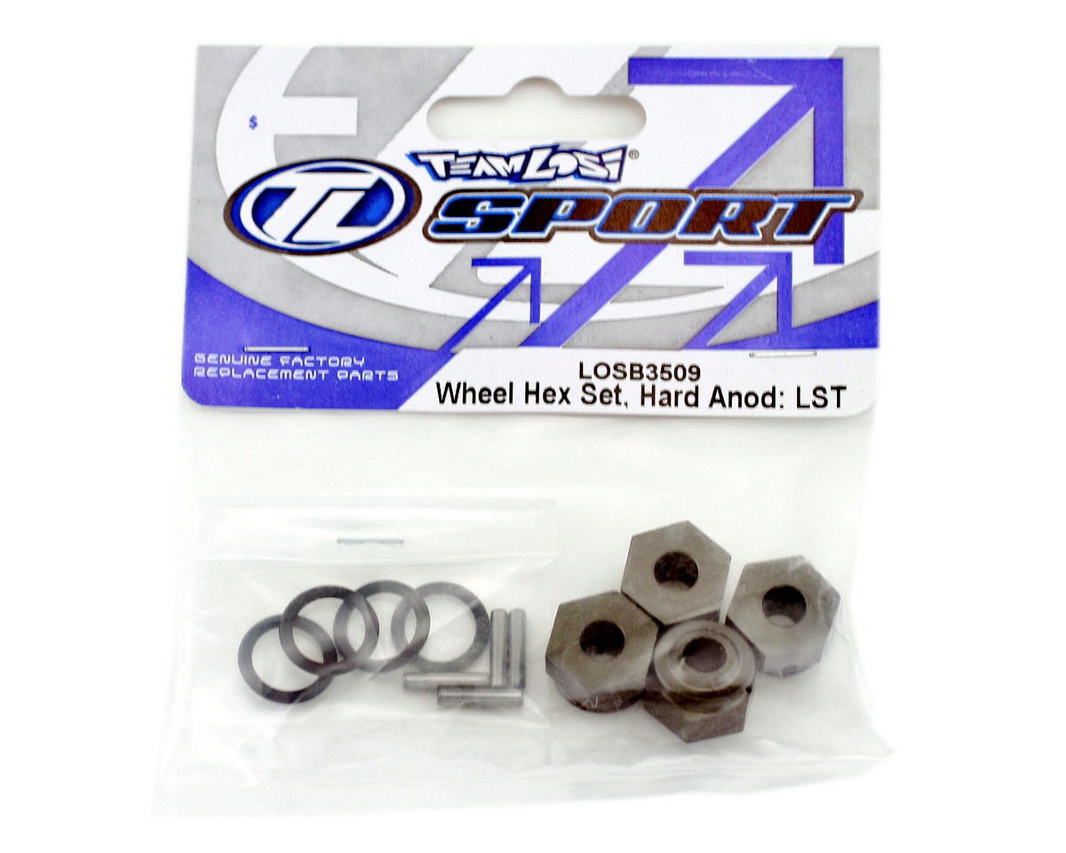 Losi Wheel Hex Set,Hard Anodized:LST (4)