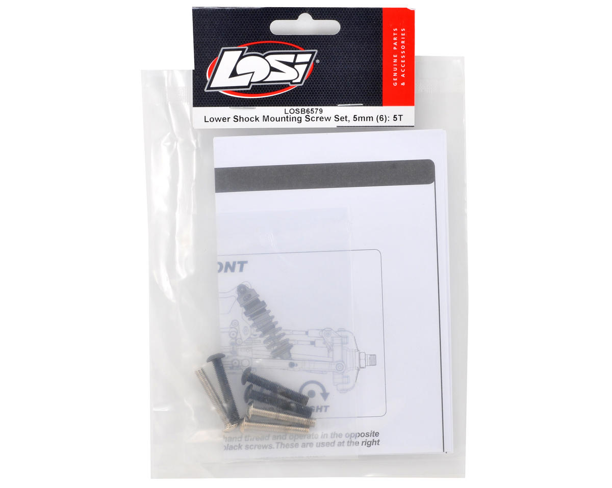 Losi Lower Shock Mounting Screw Set (6)