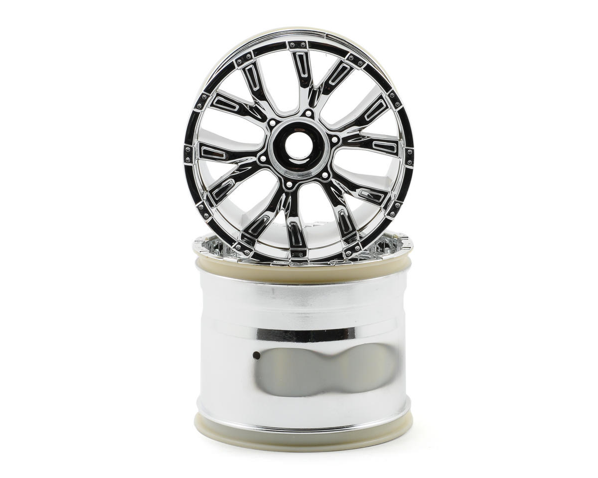 Losi 420 Series Force Wheels (2) (Chrome)