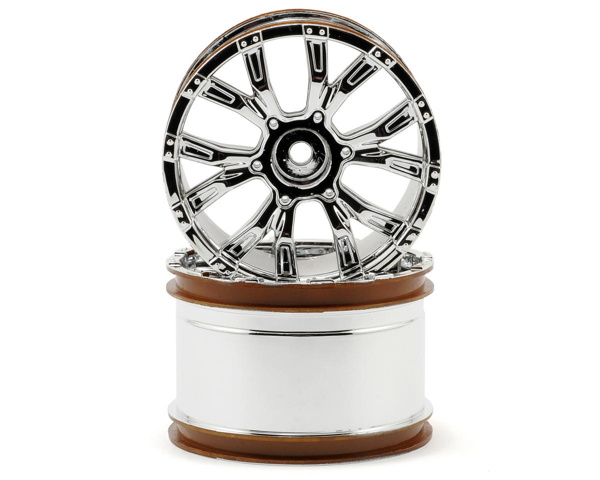 Losi 320S Force Wheel (2) (Ten-T) (Chrome)