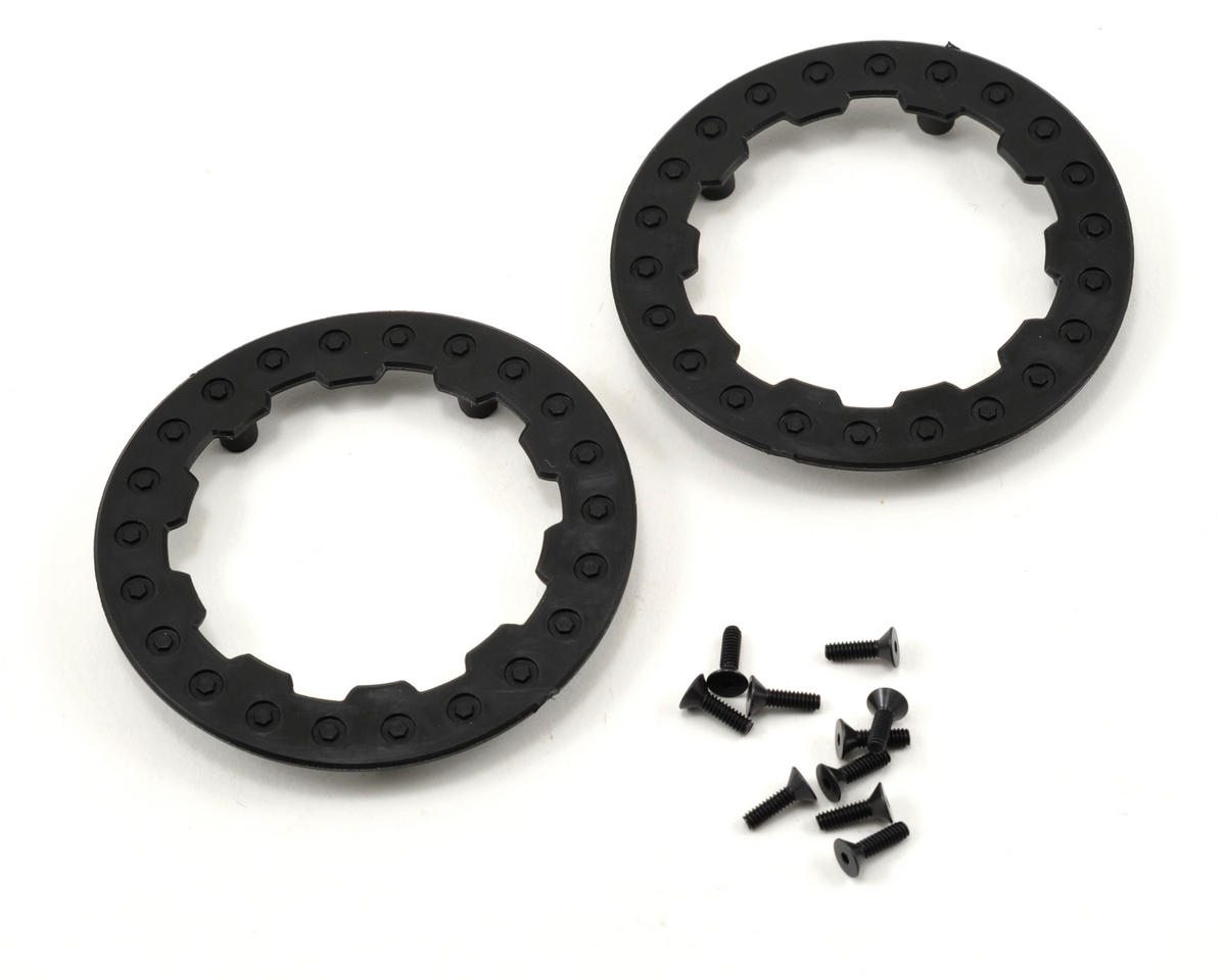 Losi Short Course Wheels (Black) (2) (XXX-SCT/SCB Front) (Not Hex)