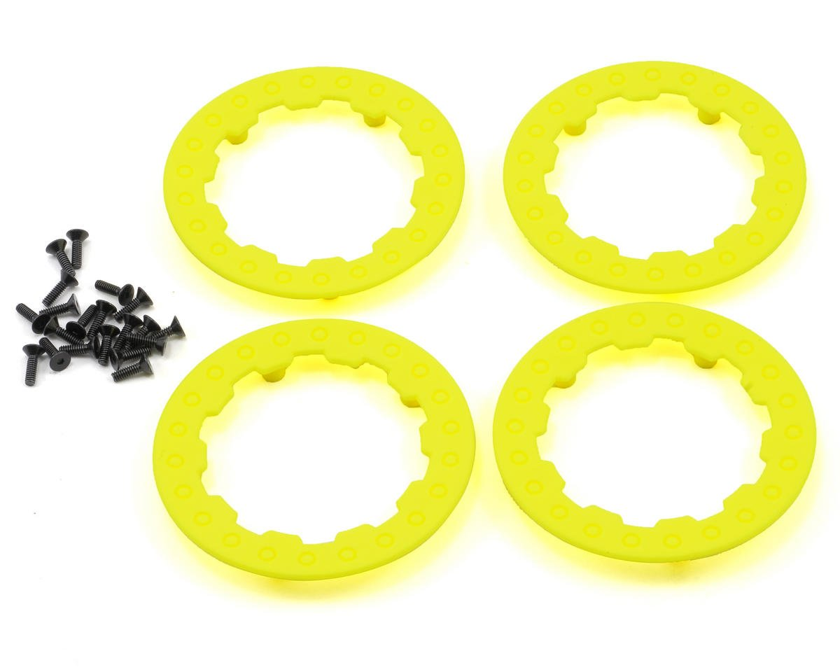 Losi Beadlock Ring Set w/Screws (Fluorescent Yellow) (4)