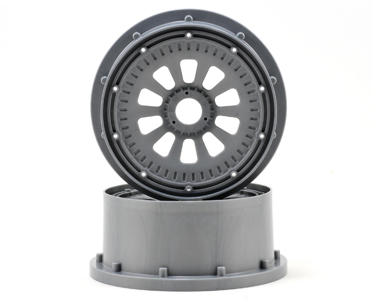Losi Desert Buggy XL 5IVE-T Wheel Set w/Beadlocks (2) (Grey/Black)