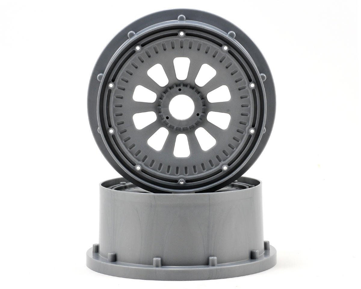 5IVE-T Wheel Set w/Beadlocks (2) (Grey/Black) by Losi