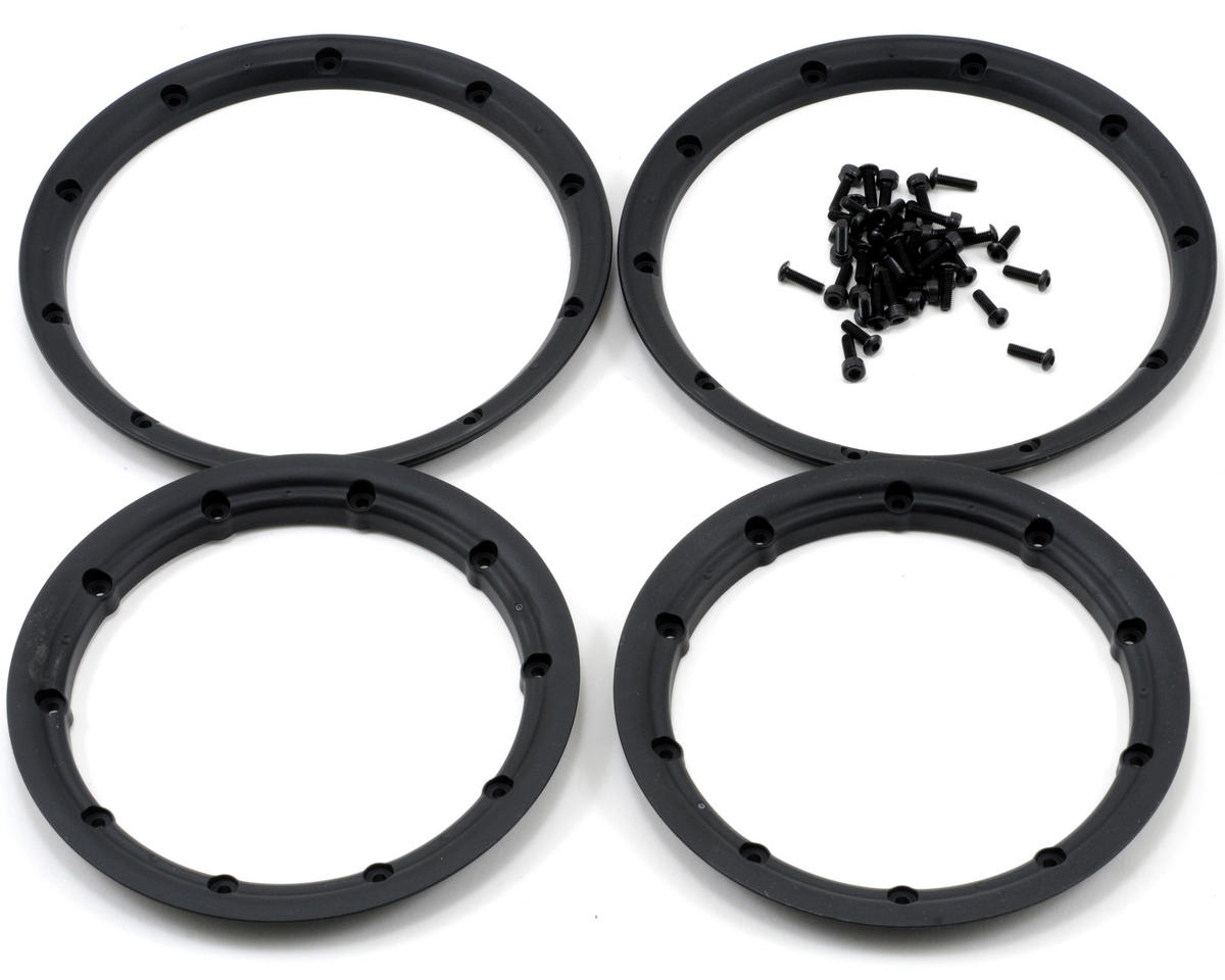 Losi 5IVE-T Wheel Set w/Beadlocks (2) (Grey/Black)