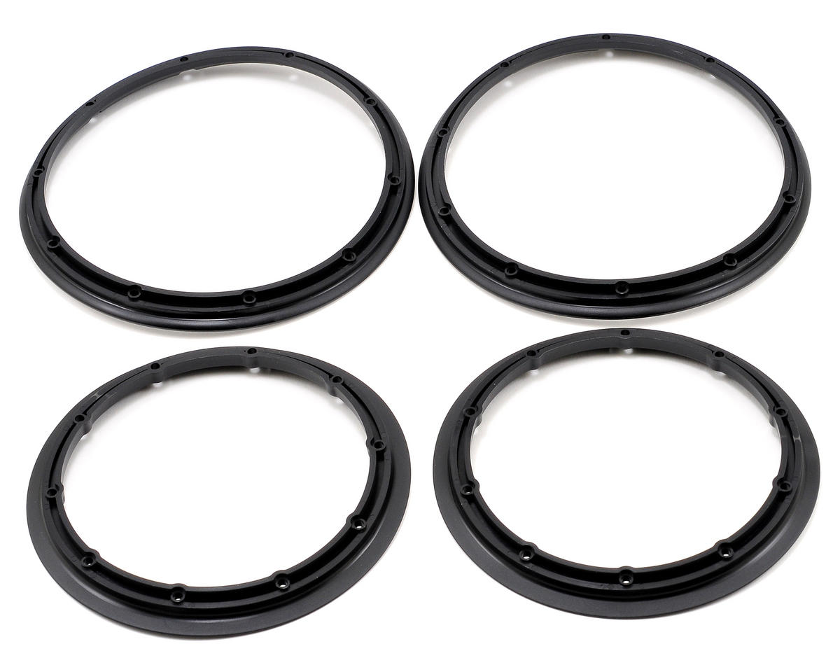 Losi 5IVE-T Inner & Outer Beadlock Set (Black) (4)