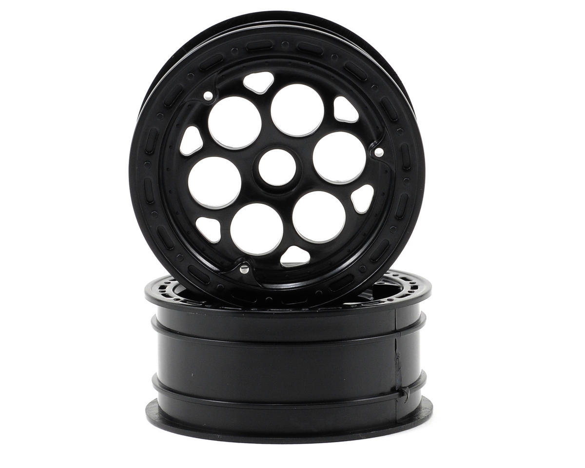 Losi Wheels (Black) (2) (Slider Front) (Not Hex)