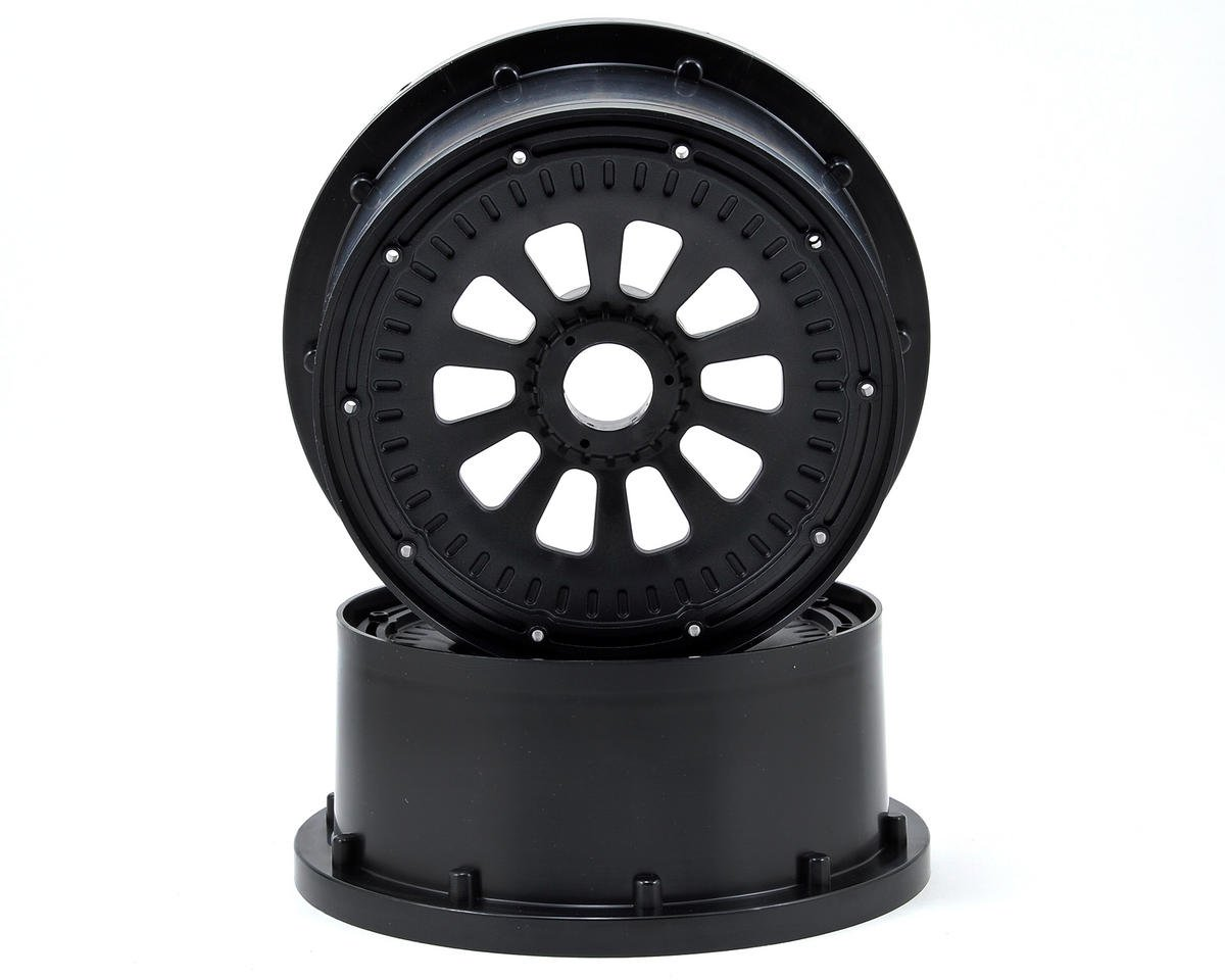Losi Desert Buggy XL 5IVE-T Wheel Set w/Beadlocks (2) (Black)
