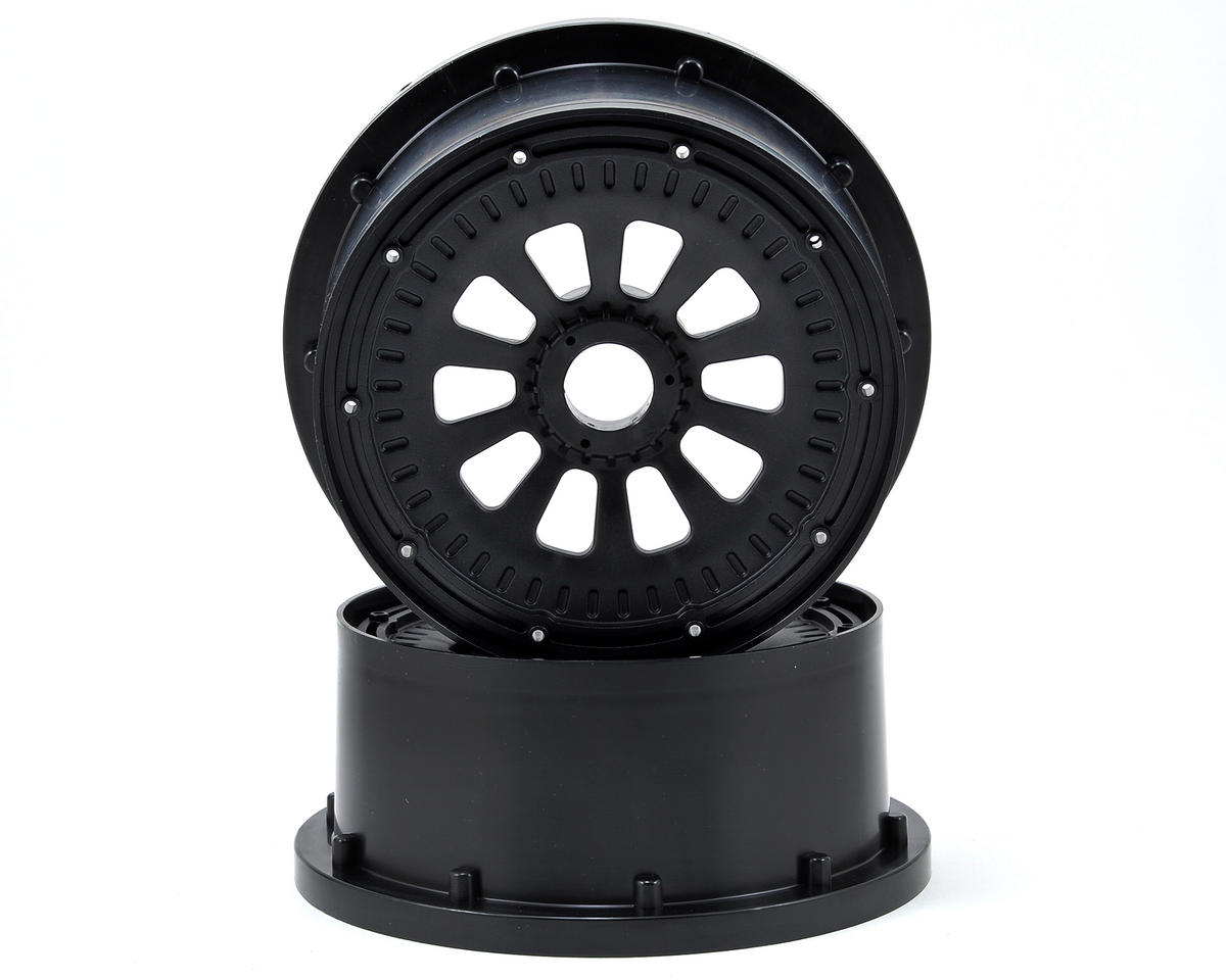 Losi 5IVE-T Wheel Set w/Beadlocks (2) (Black)
