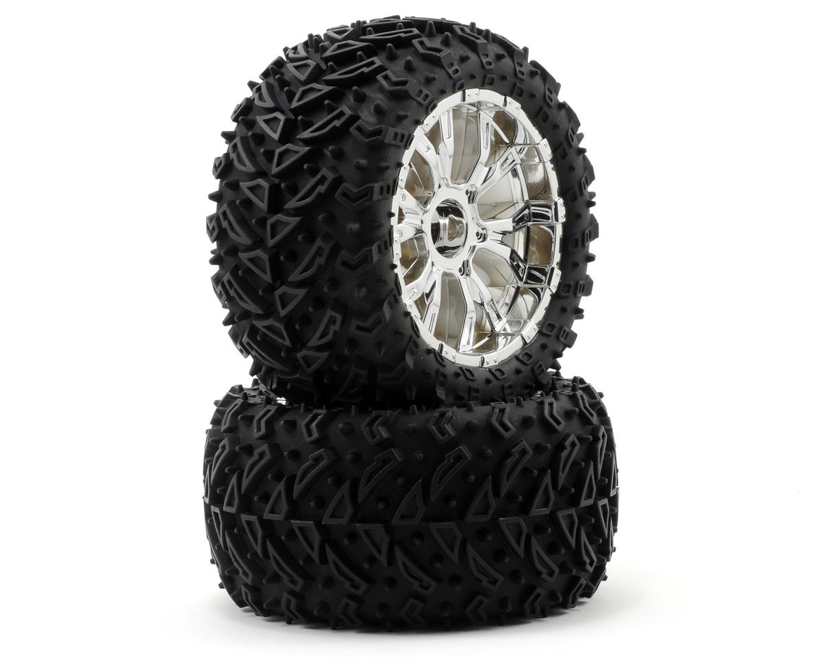 Losi 320S Zombie Max Tires w/Force Wheels (2) (Ten-T)