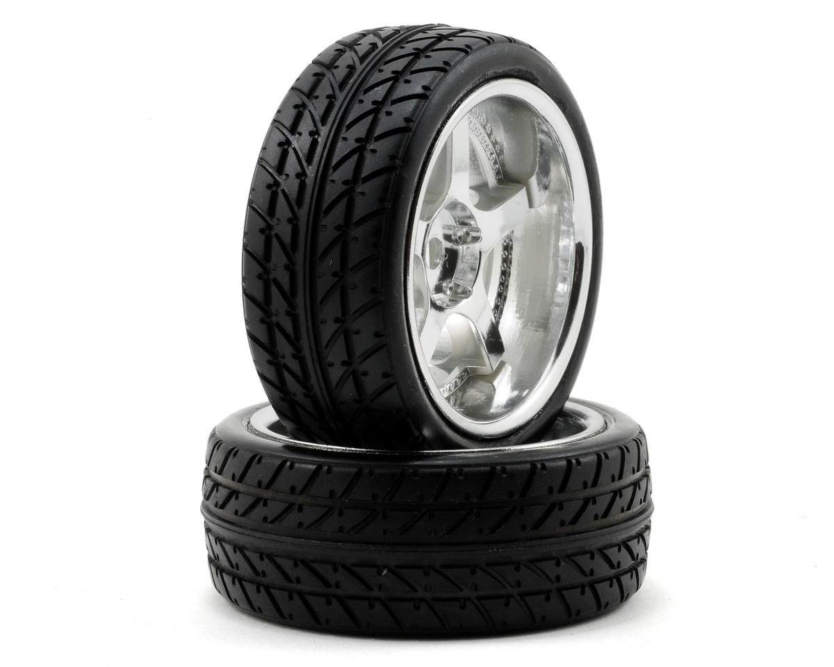 Losi Pre-Mounted Drift Rear Tires (Chrome) (2)