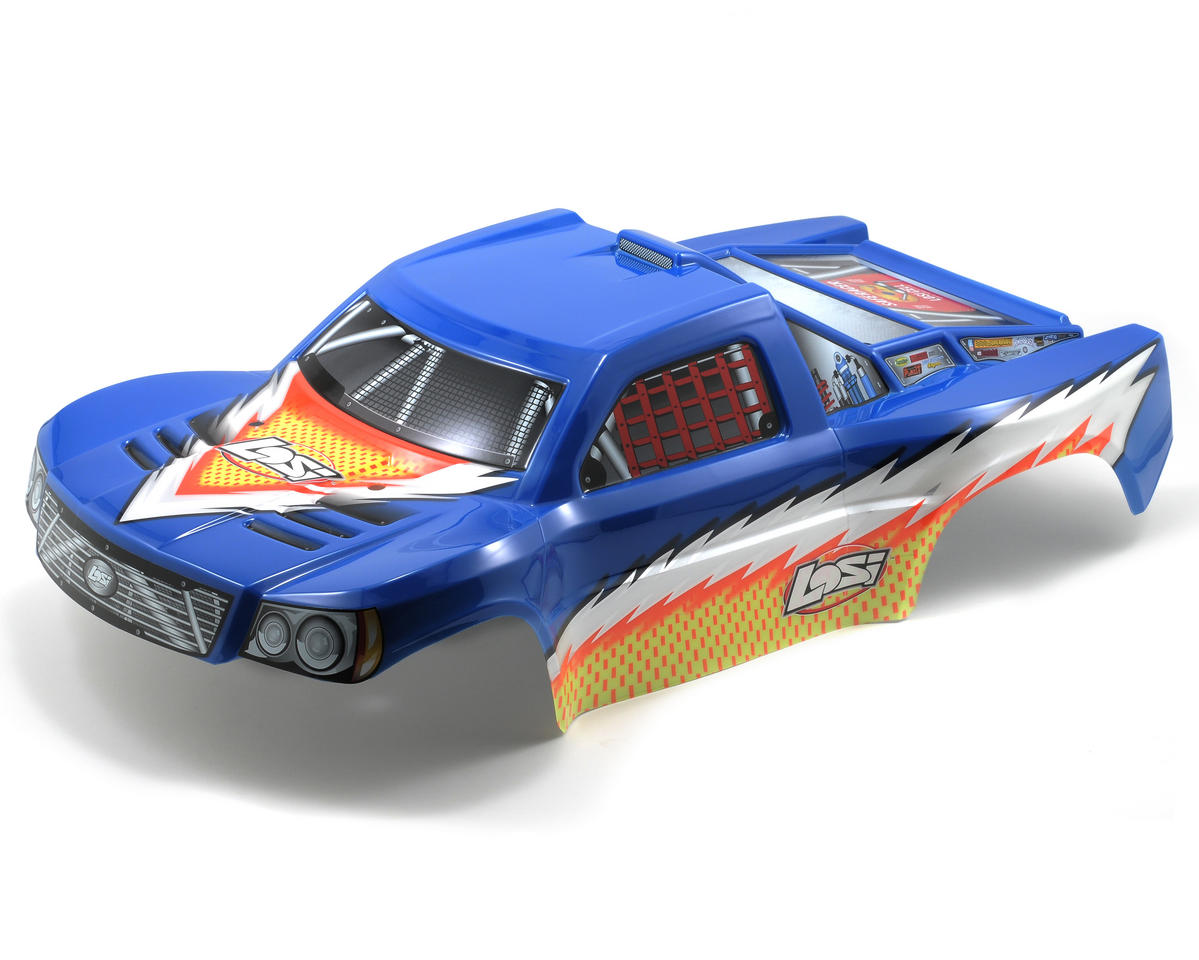 Losi Strike Pre-Painted Body (Blue w/Stickers)