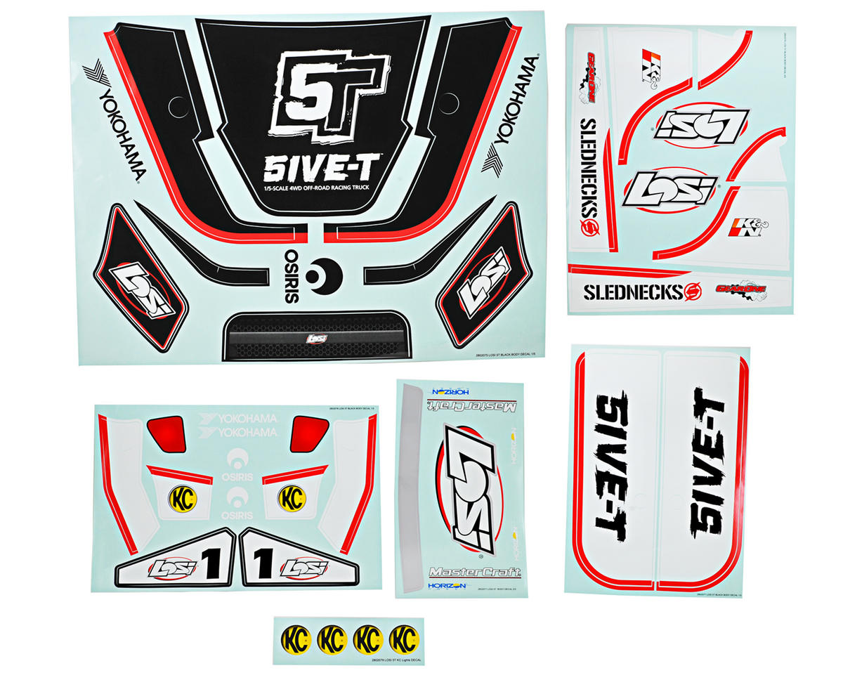 Losi Sticker & Graphic Sheet Set (Black)